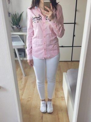 GAASTRA Hemdbluse Bluse Hemd maritim rosa pink blau Gr. XS