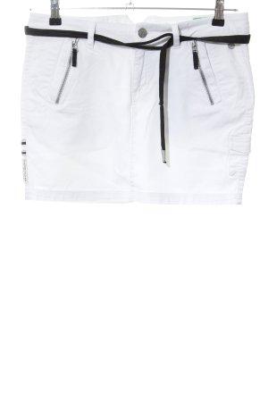 Gaastra Jeansrock weiß-schwarz Casual-Look