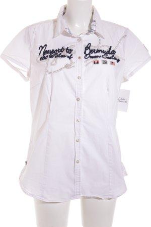 Gaastra Kurzarm-Bluse weiß klassischer Stil