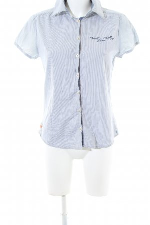 Gaastra Short Sleeve Shirt blue-white striped pattern casual look