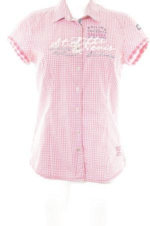 Gaastra Shirt met korte mouwen wit-lichtrood geruite print simpele stijl
