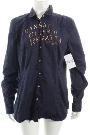 Gaastra Langarm-Bluse dunkelblau Casual-Look