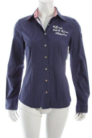 Gaastra Langarm-Bluse dunkelblau Marine-Look