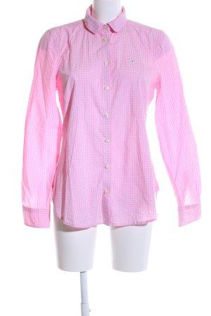 Gaastra Langarm-Bluse pink Karomuster Business-Look