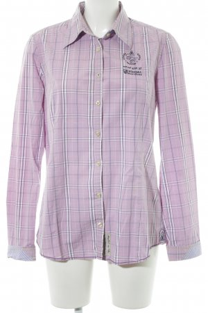 Gaastra Langarm-Bluse Glencheckmuster Casual-Look
