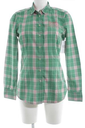 Gaastra Langarm-Bluse grün-hellgrün Karomuster Casual-Look