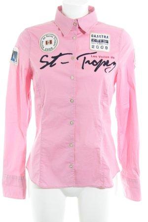 Gaastra Langarm-Bluse rosa extravaganter Stil