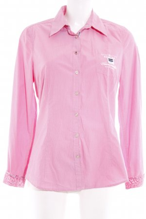 Gaastra Langarm-Bluse rosa-magenta Streifenmuster Casual-Look