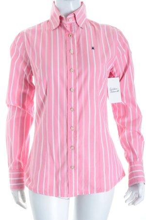 Gaastra Langarm-Bluse rosa-weiß Streifenmuster klassischer Stil
