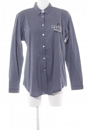 Gaastra Langarm-Bluse stahlblau-wollweiß Casual-Look