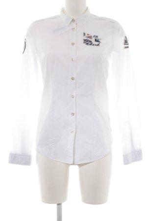 Gaastra Langarm-Bluse weiß Casual-Look