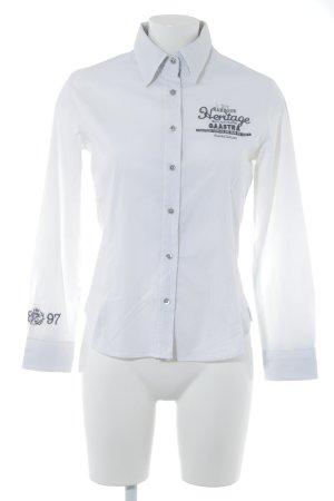 Gaastra Langarm-Bluse weiß-schwarz Business-Look