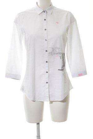 Gaastra Langarmhemd weiß abstraktes Muster Business-Look