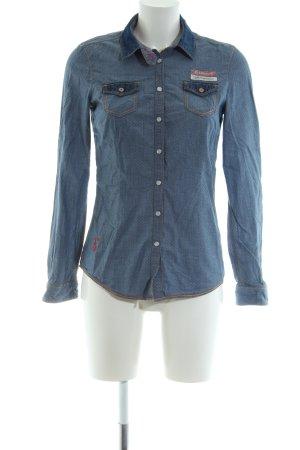 Gaastra Langarmhemd blau Casual-Look