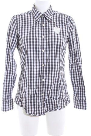 Gaastra Langarmhemd schwarz-weiß Karomuster Casual-Look