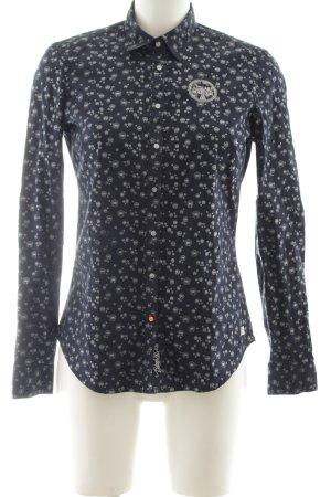 Gaastra Langarmhemd schwarz-wollweiß Allover-Druck Casual-Look