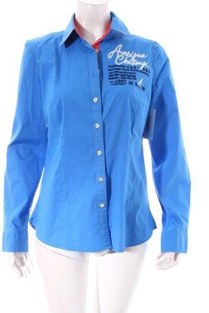Gaastra Langarmhemd blau sportlicher Stil