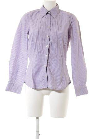 Gaastra Langarmhemd dunkelviolett-weiß Karomuster Business-Look