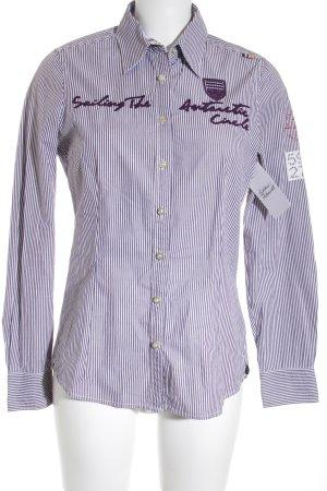 Gaastra Langarmhemd dunkelviolett-weiß Streifenmuster Business-Look