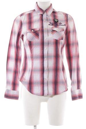 Gaastra Camisa de manga larga estampado príncipe de Gales estilo sencillo