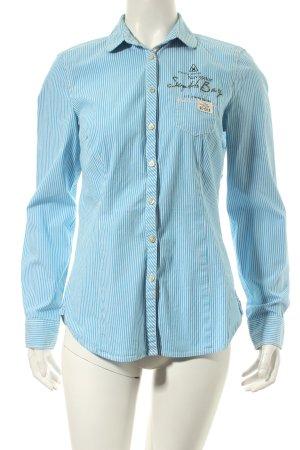 Gaastra Langarmhemd hellblau-weiß Streifenmuster Casual-Look