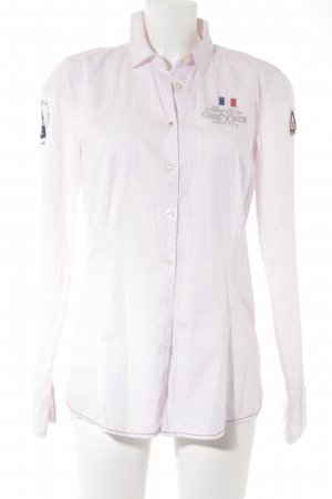 Gaastra Langarmhemd hellrosa-weiß platzierter Druck Casual-Look