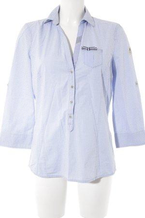 Gaastra Chemise à manches longues bleu azur-blanc style d'affaires