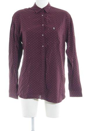 Gaastra Langarmhemd karminrot-rosa Aztekenmuster Business-Look