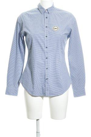Gaastra Langarmhemd kornblumenblau-weiß Karomuster klassischer Stil
