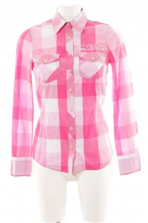 Gaastra Langarmhemd pink Karomuster Business-Look