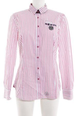 Gaastra Langarmhemd pink-weiß Motivdruck Casual-Look