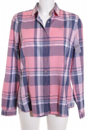 Gaastra Long Sleeve Shirt pink-cornflower blue check pattern classic style