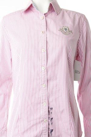 Gaastra Langarmhemd rosa-weiß Streifenmuster klassischer Stil