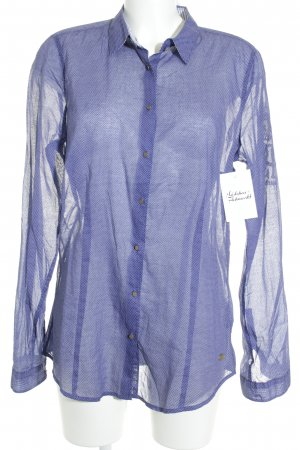 Gaastra Langarmhemd weiß-blau Punktemuster Casual-Look