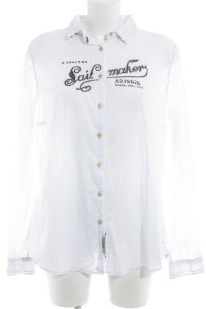 Gaastra Langarmhemd weiß-dunkelblau Casual-Look