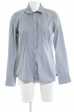 Gaastra Langarmhemd weiß-dunkelblau Karomuster Casual-Look