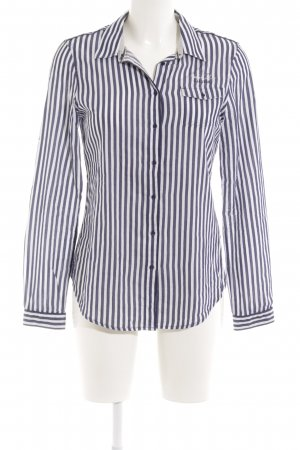 Gaastra Langarmhemd weiß-dunkelblau Streifenmuster Business-Look
