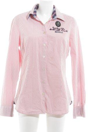 Gaastra Langarmhemd weiß-rot Streifenmuster Casual-Look