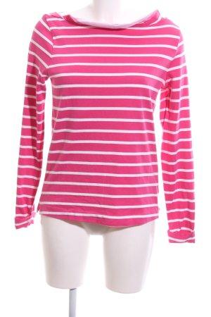 Gaastra Longsleeve pink-weiß Streifenmuster Casual-Look