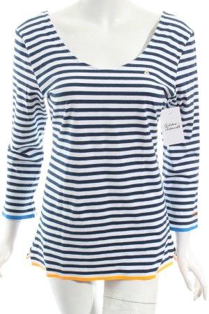 Gaastra Longsleeve weiß-dunkelblau Streifenmuster Casual-Look