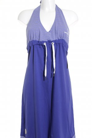 Gaastra Halter Dress white-blue striped pattern beach look