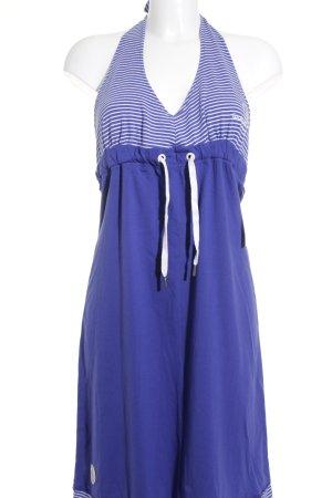 Gaastra Neckholderkleid weiß-blau Streifenmuster Beach-Look