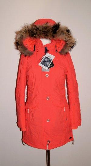 GAASTRA Outdoor-Jacke, Winter-Parka, kurzer Mantel orange/rot (signalrot), Gr. S