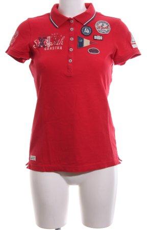 Gaastra Polo-Shirt rot Schriftzug gedruckt Casual-Look