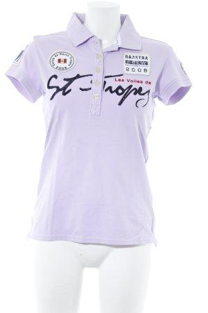 Gaastra Polo-Shirt blasslila sportlicher Stil