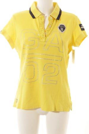 Gaastra Polo-Shirt gelb-dunkelblau Segel-Look
