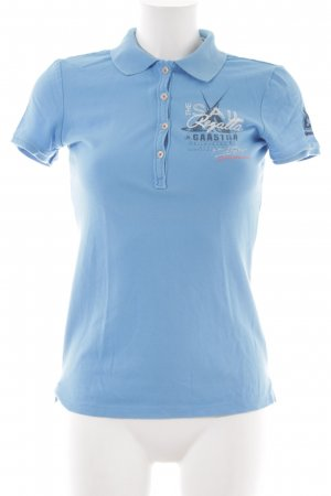 Gaastra Polo shirt neon blauw gedrukte letters casual uitstraling