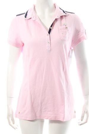 Gaastra Polo-Shirt rosa-dunkelblau sportlicher Stil