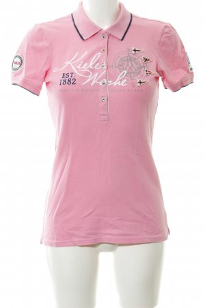 Gaastra Polo Shirt pink printed lettering casual look