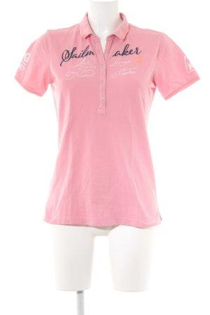 Gaastra Polo-Shirt rosa Schriftzug gestickt sportlicher Stil